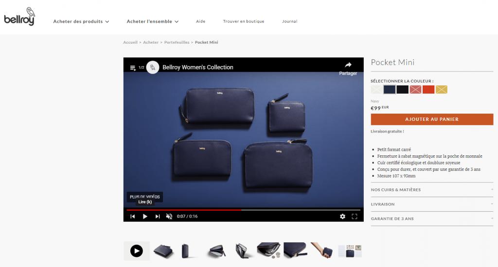 Exemple fiche produit site marchand