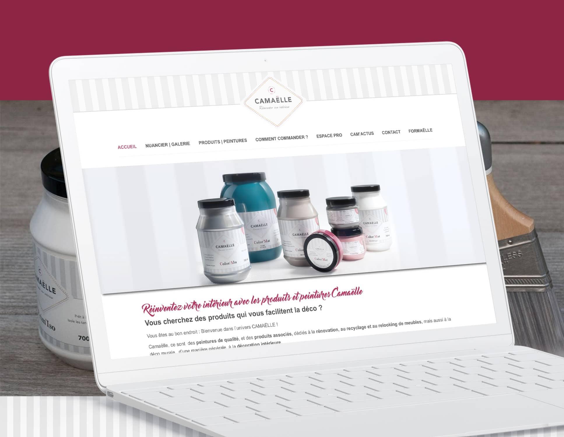Camaelle : refonte Wordpress par l'agence Webperfect