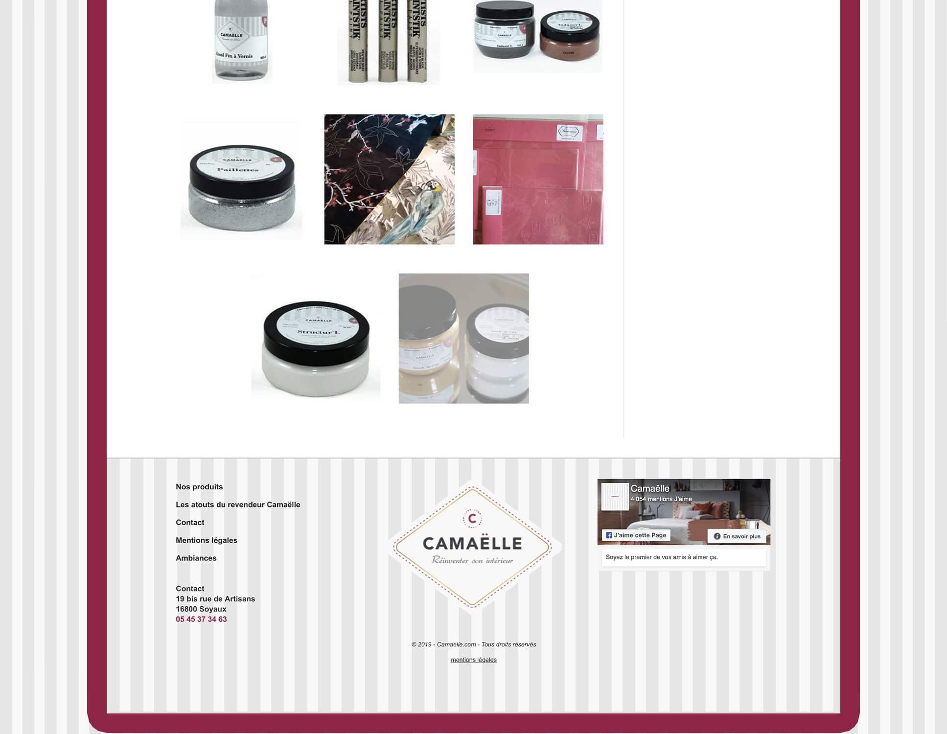 Camaelle : refonte du site par Webperfect