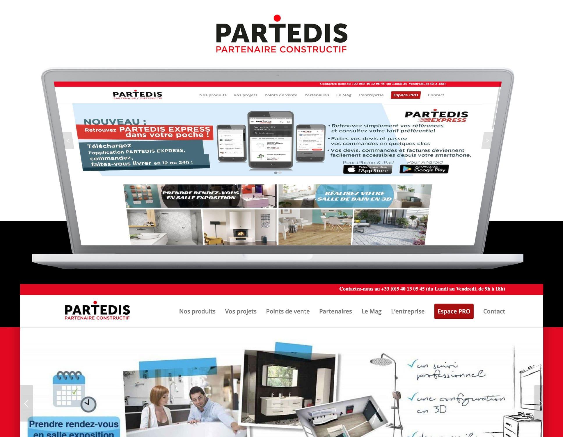 Partedis : refonte du site par Webperfect