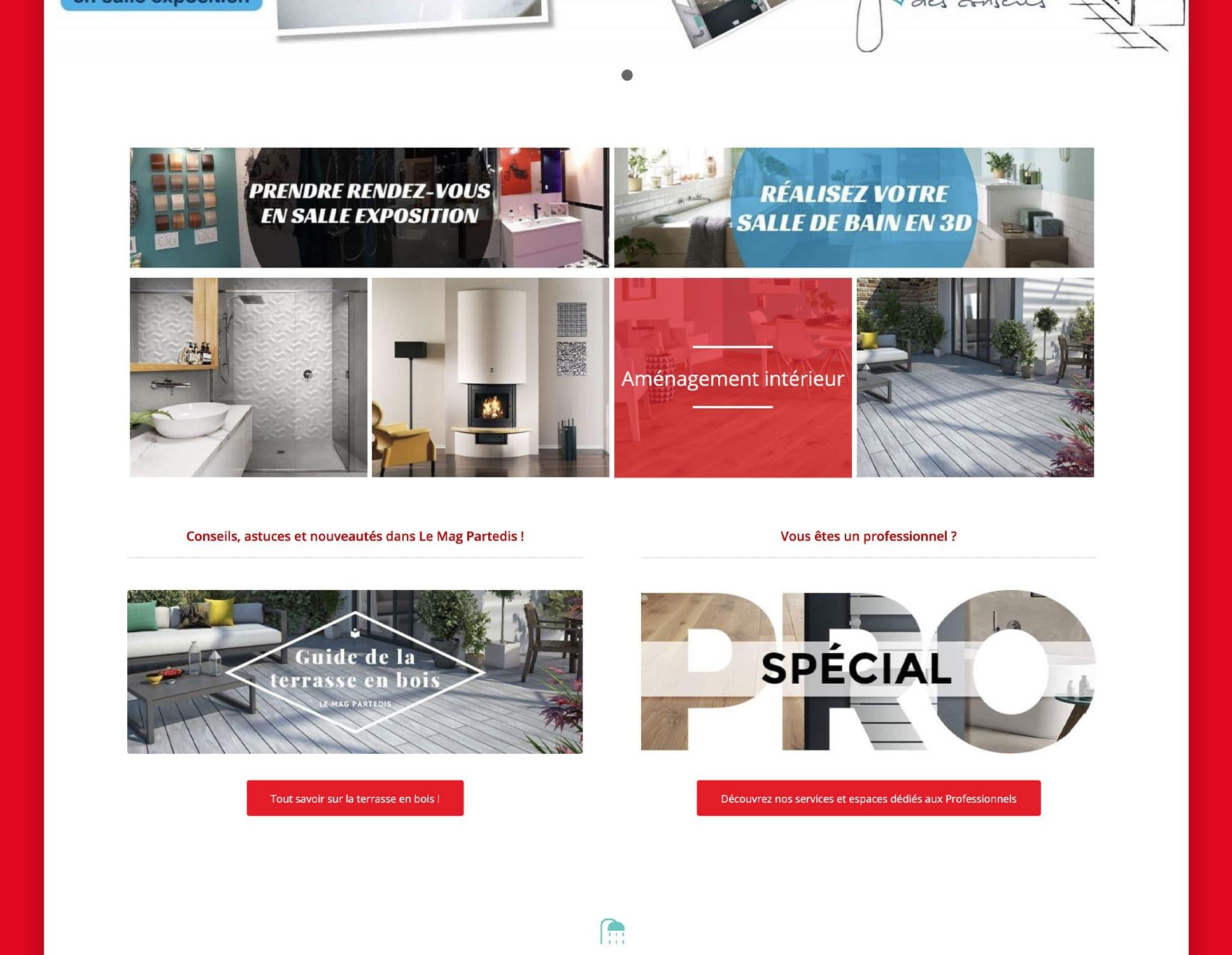 Partedis : refonte complète du site par Webperfect