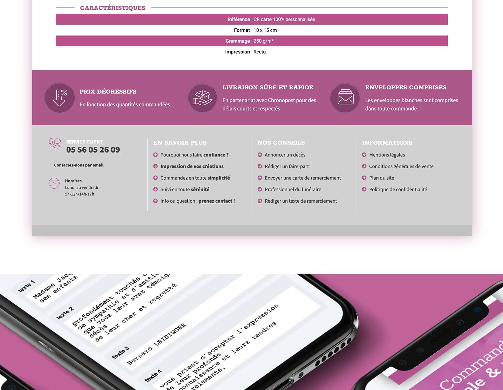 Deuil Imprim refonte Prestashop par Webperfect