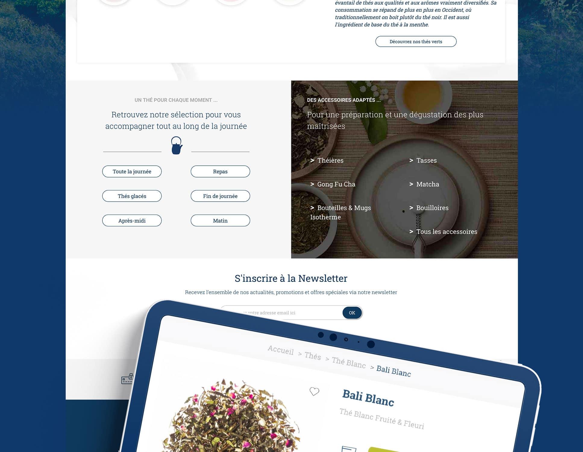 L'Artisan du Thé Refonte Site Webperfect